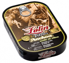 Filete de anchoa en aceite de oliva serie oro Lolin