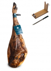 Jamón de Bellota 100% Ibérico Sánchez Romero Carvajal + jamonero + cuchillo