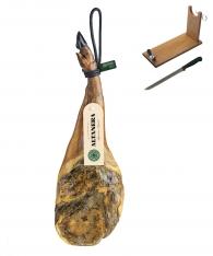 Paleta de cebo de campo ibérica  50% raza ibérica Altanera + jamonero + cuchillo