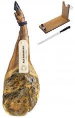 Paleta Ibérica de cebo de campo Altadehesa + jamonero + cuchillo