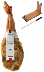 Paleta serrana duroc Artysán entera + jamonero + cuchillo